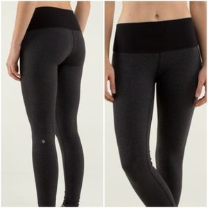Lululemon Wunder Under Heathered Black Pant